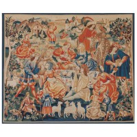 Medieval Country Banquet Handwoven Tapestry