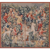 The Unicorn Capture Handwoven Tapestry