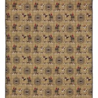 Hunting Trophy Tapestry Fabric