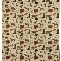 Horse Riding Tapestry Fabric