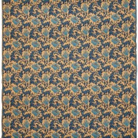 Morris Anemone Gold Blue Tapestry Fabric