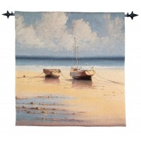 Tranquil Moorings Woven Art Tapestry