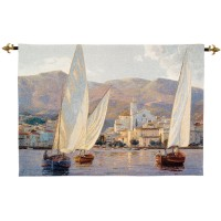 Tall Sails Woven Art Tapestry
