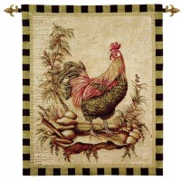 Cockerel I Woven Art Tapestry