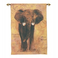 Safari Elephant Woven Art Tapestry