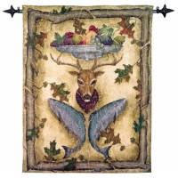 Highland Lodge Woven Art Tapestry