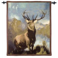 Monarch of the Glen Woven Art Tapestry