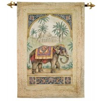 Exotic Elephant I Woven Art Tapestry