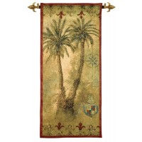 Tropical Palms Woven Art Tapestry