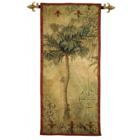 Exotic Palm Woven Art Tapestry
