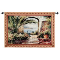 Seaview Arch Woven Art Tapestry