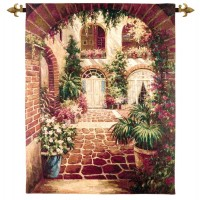 The Courtyard Woven Art Tapestry