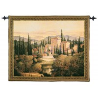 Evening in Tuscany Woven Art Tapestry
