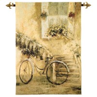 Courtyard Bicycle Woven Art Tapestry