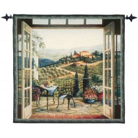 Balcony View Woven Art Tapestry