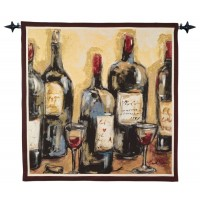 Contemporary Red Woven Art Tapestry