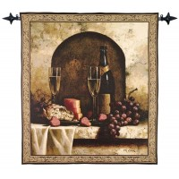 Champagne Banquet Woven Art Tapestry