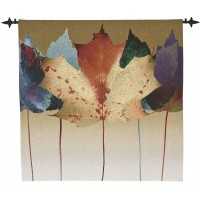 Leaf Dance Woven Art Tapestry