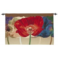 Grand Poppies Woven Art Tapestry