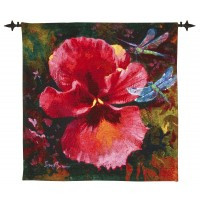 Papaver - Pink Woven Art Tapestry