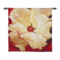 Papaver - Cream Woven Art Tapestry