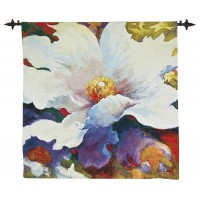 White Lily Woven Art Tapestry