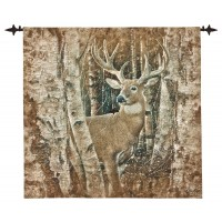 Woodland Buck Woven Art Tapestry