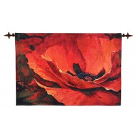 Grand Poppy Woven Art Tapestry