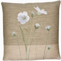 Flax I Pillow Cover