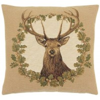 Stag - Beige Pillow Cover