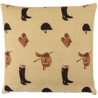 Equestrian Beige Pillow Cover