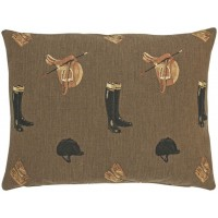 Equestrian Brown Pillow Cover