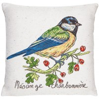 Coal Tit Pillow Cover