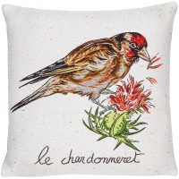 Gold Finch Pillow Cover