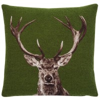 Stately Stag - Green Pillow Cover