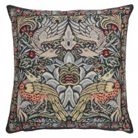 Peacock & Dragon - Blue Pillow Cover