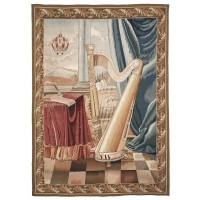 The Harp Handwoven Tapestry