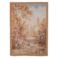 Doves & Fountain Handwoven Tapestry
