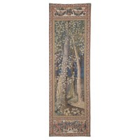 Forest Portiere with Frieze Tapestry