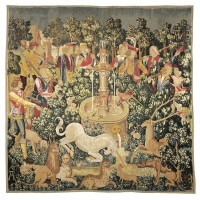 La Licorne è la Fontaine (The Unicorn at the Fountain) Tapestry