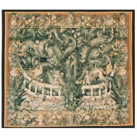 Giant Acanthus Leaves Handwoven Tapestry