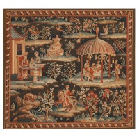 Chinoisiere Handwoven Tapestry