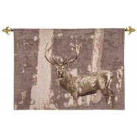 Stately Stag Taupe Tapestry