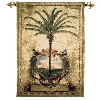 Sunset Palm Woven Art Tapestry