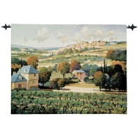Vineyards of Provence Woven Art Tapestry