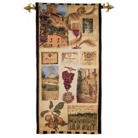 Wine Country II Woven Art Tapestry