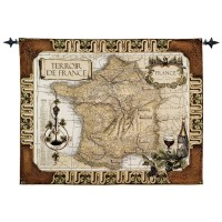 French Wine Country Woven Art Tapestry