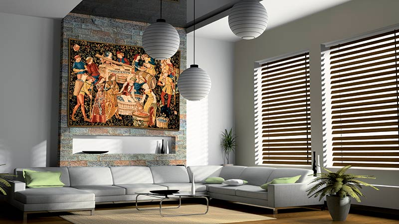 Few Interior Decorating Ideas Can Light Up A Room And Capture The Attention Of All Observers Like Uniquely Installed Wall Tapestry